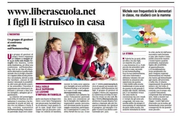 articolo dal Gazzetta di Alba
